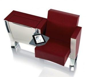fauteuil rabattable avec tablette